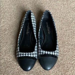 Tweed Black Flats